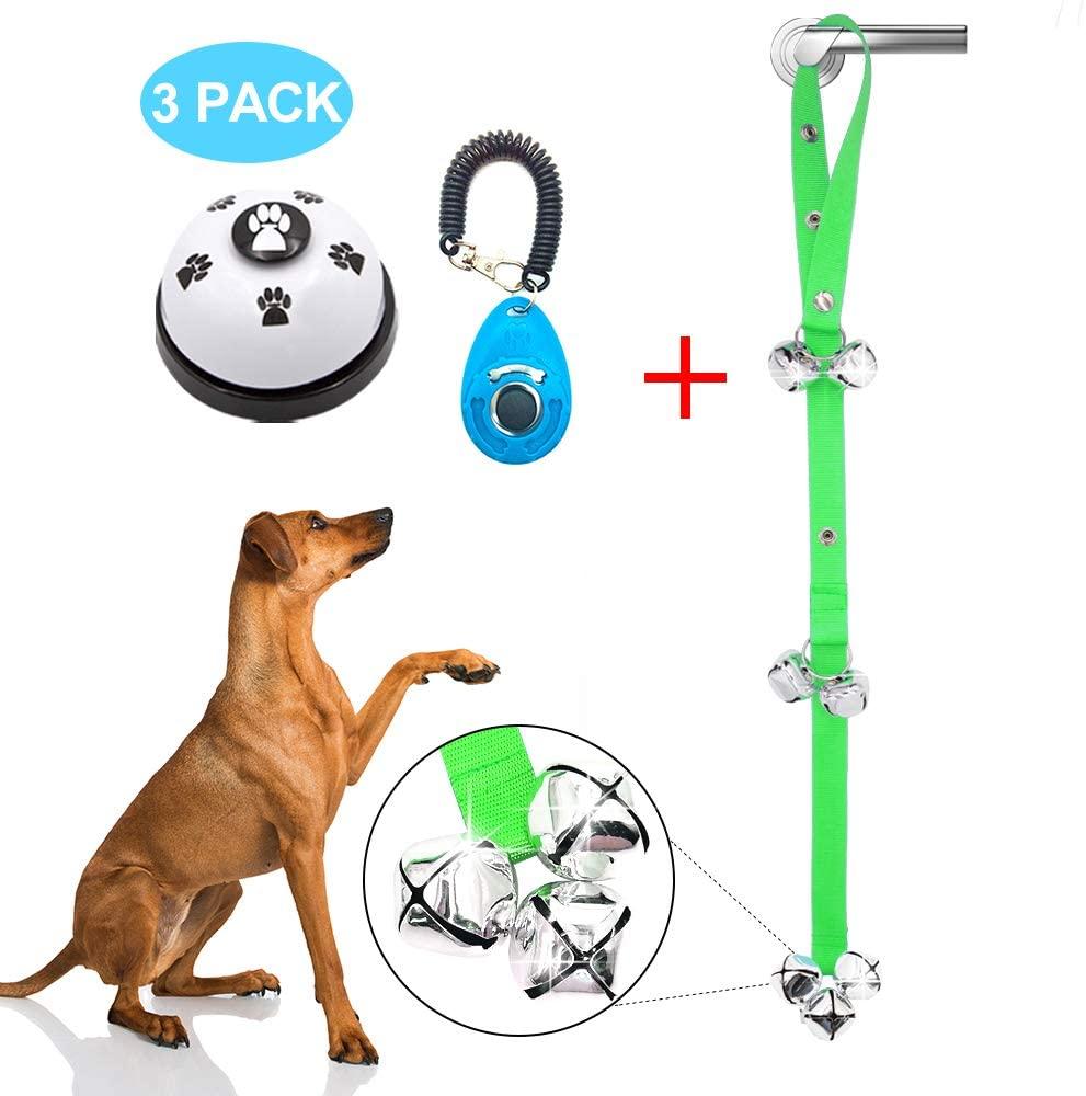Supet Dog Doorbells Premium Dog Potty Training Bells Adjustable Dog Bells for Dog Door Knob, Puppy Training