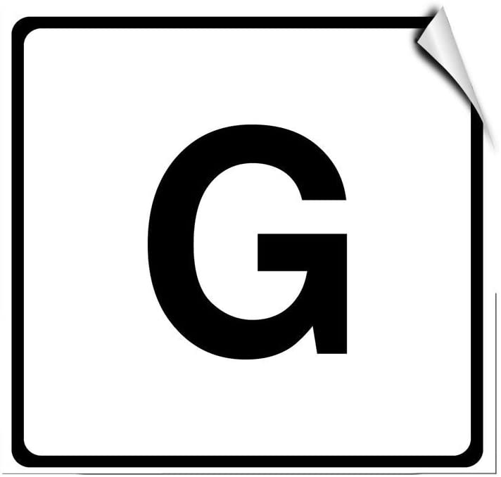 Letter G Business Large Letter & Number LABEL DECAL STICKER Sticks to Any Surface