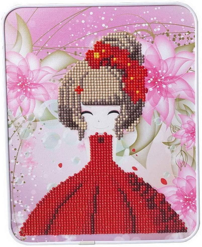 Ukerdo Red Girl Pictures DIY Diamond Painting by Number Kits Kids Child Handwork Toy Gift Desktop Decoration