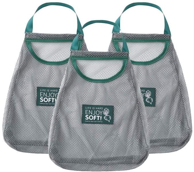 Produce Bag Grogery Bags Reusable Washable Nylon Polyester Produce Bag Mesh Eco Friendly Bags Handbag Single Handle Net Bag For Travel Outdoor Shopping