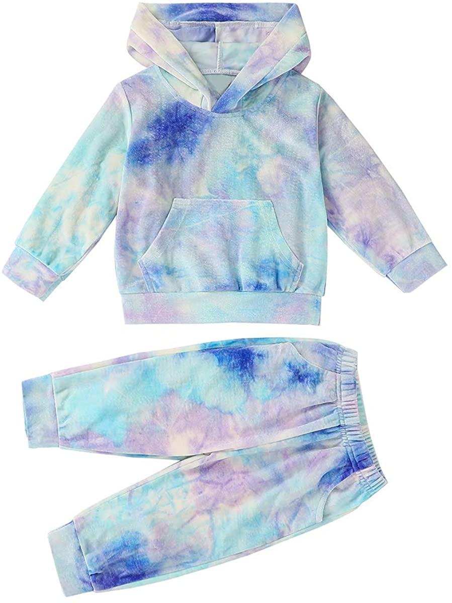 Toddler Baby Boy Casual Outfits Kangaroo Pocket Hoodie Tops Pants Long Sleeve Fall Winter Clothes Set