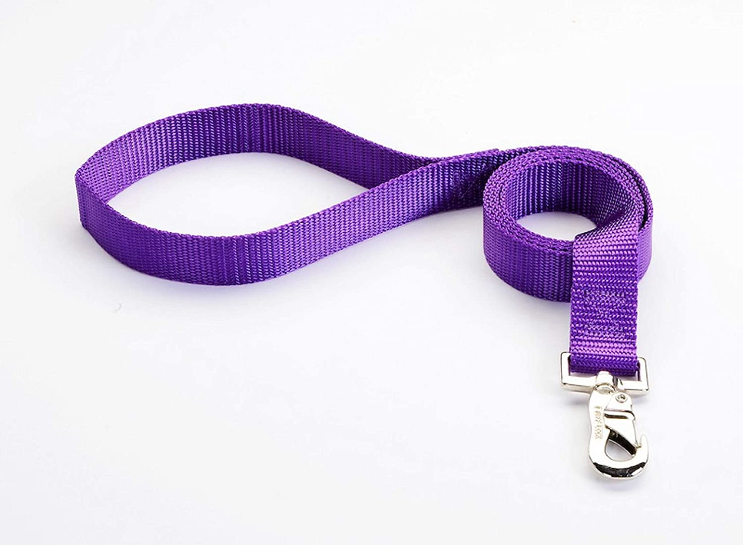 Tuff Lock Durable Nylon Training Leash Full Control Lead for Dog/Puppy, Made in USA, Multiple Sizes - (Leash-Solids)