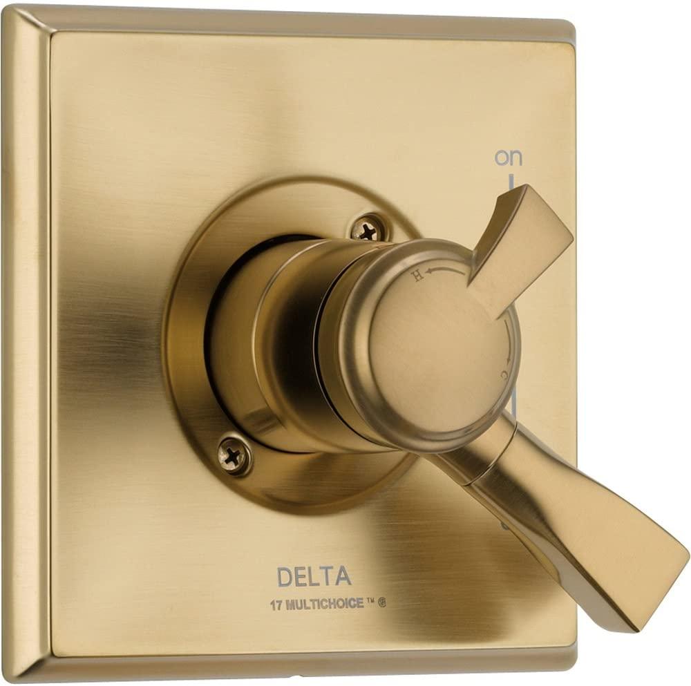 Delta Dryden Temperature & Volume Control Champagne Bronze Shower w/ Valve D117V