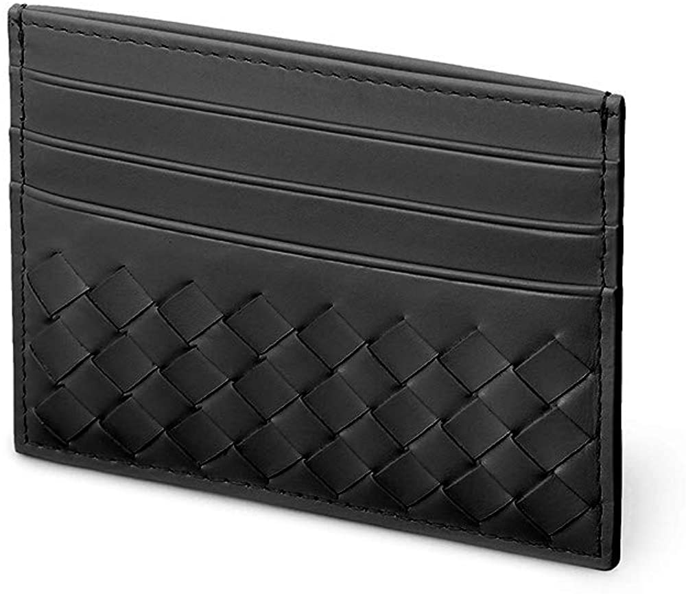 RFID Mens Leather Card Case Wallet Slim Card Holder for Men Luxury Credit Card Case Holder Card Bag for Women