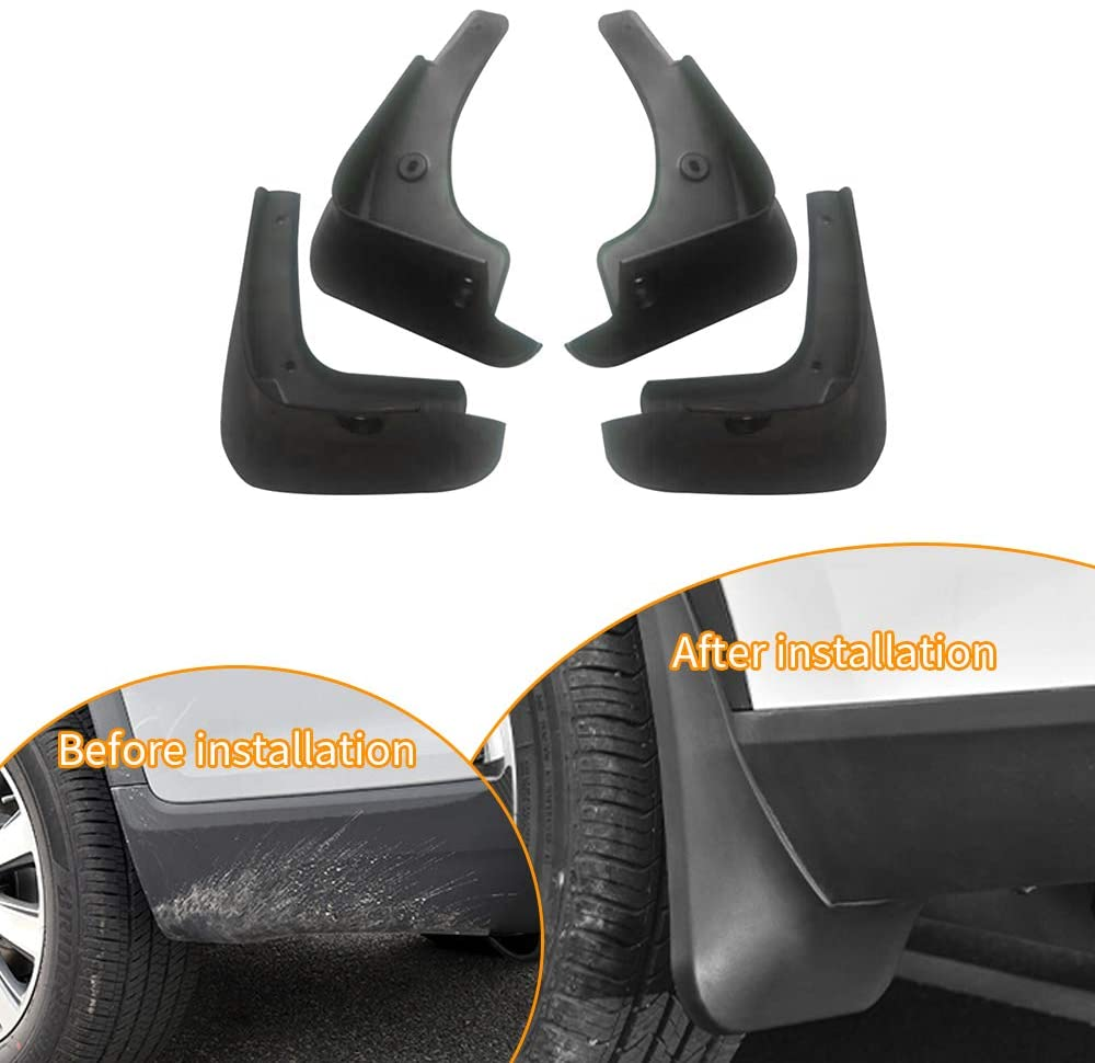 SureKit Car Custom Mud Flaps Splash Guards for Toyota Camry US 2003-2009 Fender Flares Mudflaps Mudguards Front and Rear Wheel 4Pcs