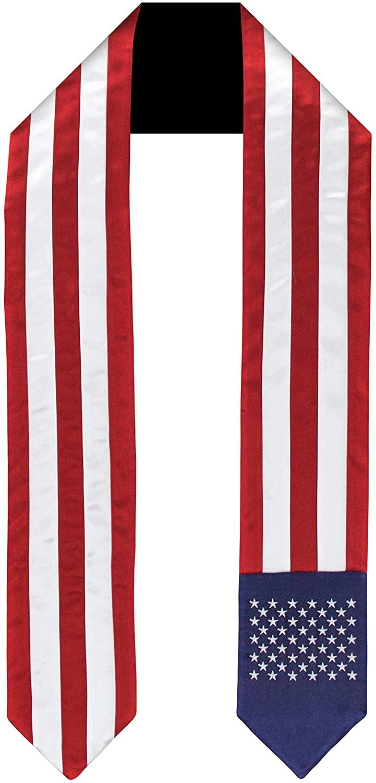 USA United States Flag Graduation Sash/Stole International Study Abroad Adult