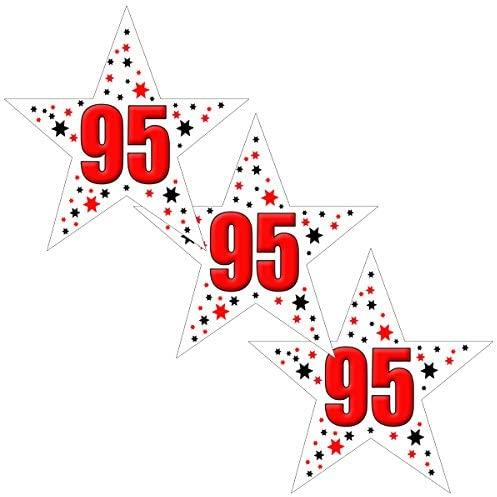 95TH Birthday Star Deco FETTI (24 Piece/PKG)