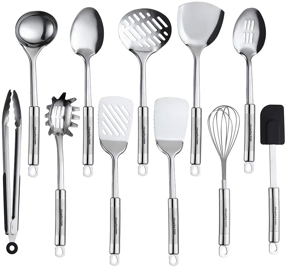 Maphyton Stainless Steel Utensils 11 Pieces Kitchen Utensil Set for Cooking