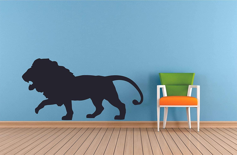 Lion Animal King of Jungle Zoo Cute Wildlife Wall Sticker Art Decal for Girls Boys Room Bedroom Nursery Kindergarten Garage House Home Fun Decor Stickers Wall Art Vinyl Decoration Size (15x20 inch)