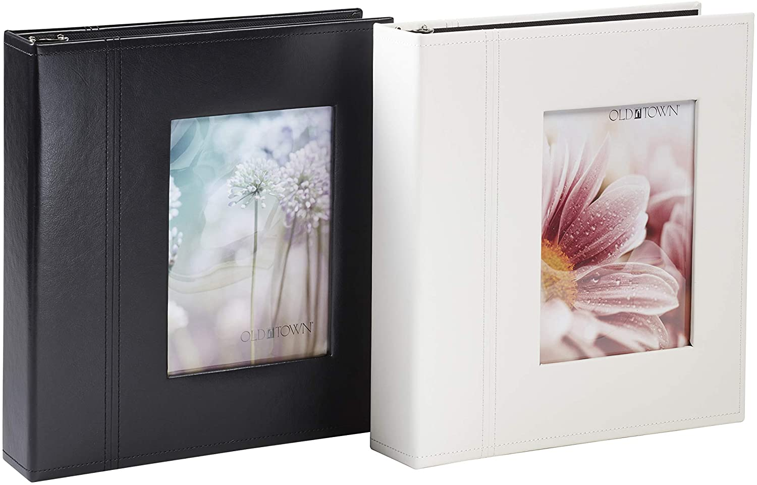 Old Town Magnetic Page Photo Albums, 2-Pack (40 Pages Each) - Black & Cream