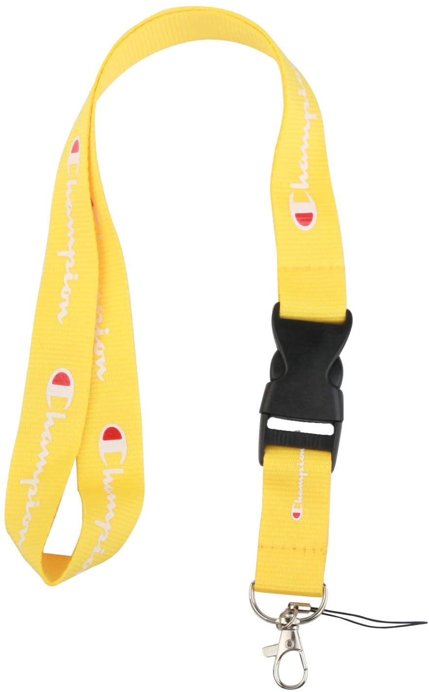 Champion Lanyard Keychain Holder for Phones ID Badge holer Bags Neck Lanyard (Yellow)