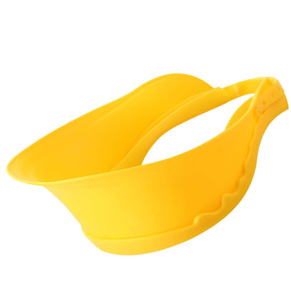 Milisten Baby Shower Cap Silicone Bathing Hat Adjustable Baby Shampoo Protection Bath Cap Safety Visor Cap for Toddler Baby Kids Children Yellow