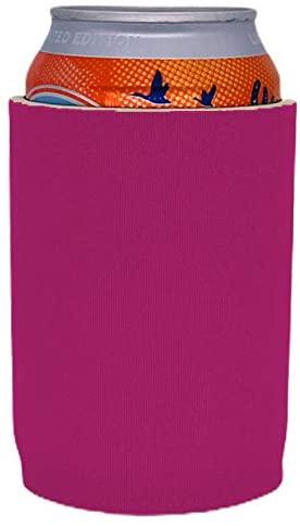 Blank Premium Neoprene Full Bottom Can Coolie(s) (2, Fuchsia)