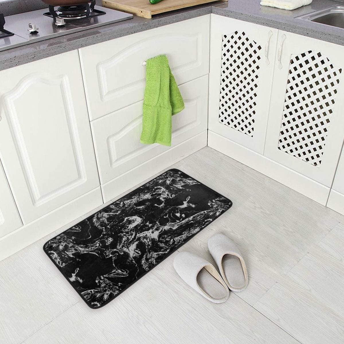 Kitchen Rugs Vintage Marble Non-Slip Kitchen Mats Bath Runner Rug Doormats Area Mat Rugs Carpet for Home Decor 39