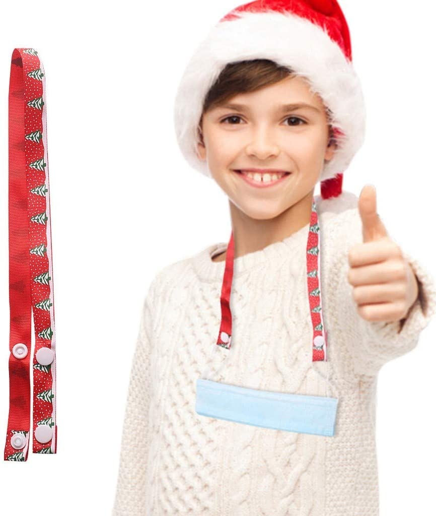 THARK Christmas Design Lanyard for Face Bandanas Lightweight Decorative Neck Lanyard for Pen Phone Holder Keys Office Name Badges Id Card Lanyard Strap for School Outdoor Sport Flat Rope