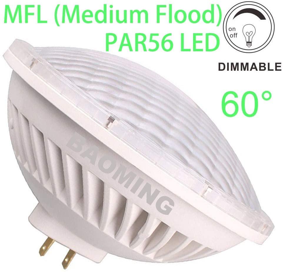 BAOMING PAR 56 LED Bulb Dimmable Replace Standard Halogen PAR56 300 Watt Light AC/120V 28W Warm White (2700~3000K) Base Type: GX16D