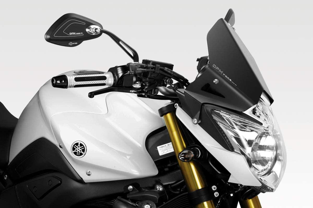 FZ8 Fazer 800 2010/15 - Kit Windscreen 'Warrior' (R-0680) - Aluminum Windshield Fairing - Hardware Fasteners Included - De Pretto Moto Accessories (DPM Race) - 100% Made in Italy