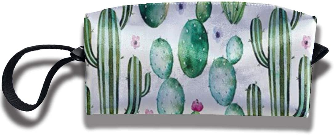 Mexican Texas Cactus Plants Spikes Cartoon Like Art Print Makeup Bag Pencil Case Student Stationery Pouch Bag Office Storage Organizer Coin Pouch Cosmetic Bag Gift for Girls Boys and Adults