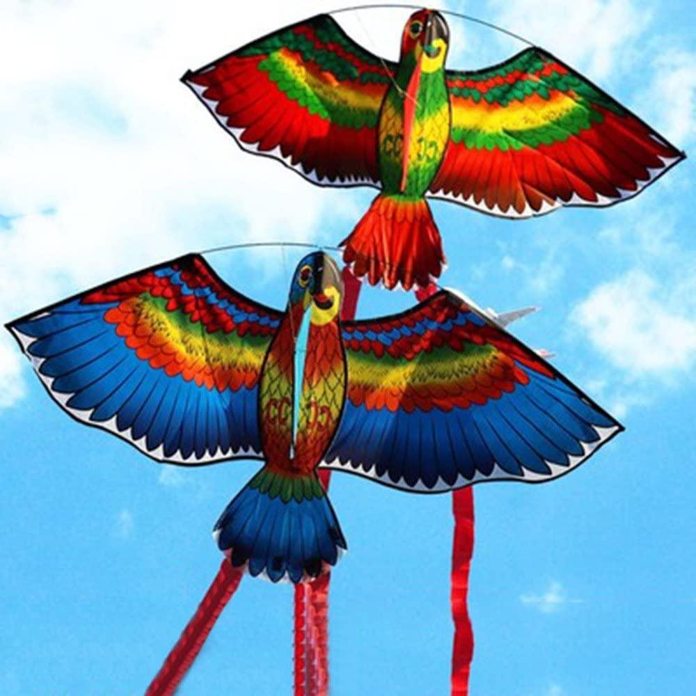 Kite Dolls, Random New Parrots Kite Single Line Breeze Outdoor Fun Sports, Animal Kite Three-Dimensional Parrot Kite