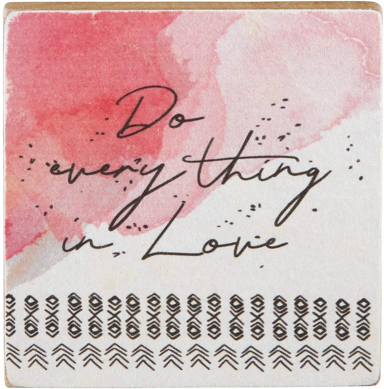 Creative Brands Heartfelt Collection-It is Well Inspirational Watercolor Tabletop Art, 4-Inch Square, Do Everything in Love