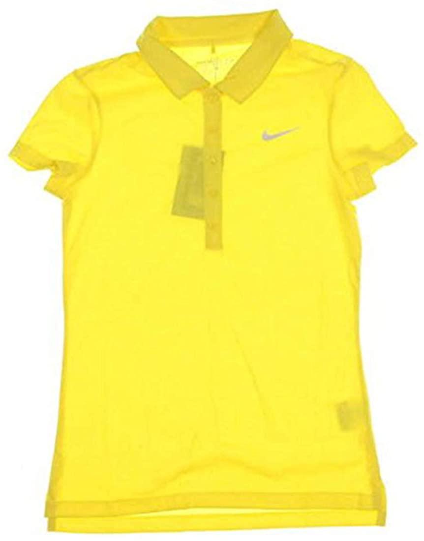 Nike New Womens Golf Polo X-Small XS Yellow