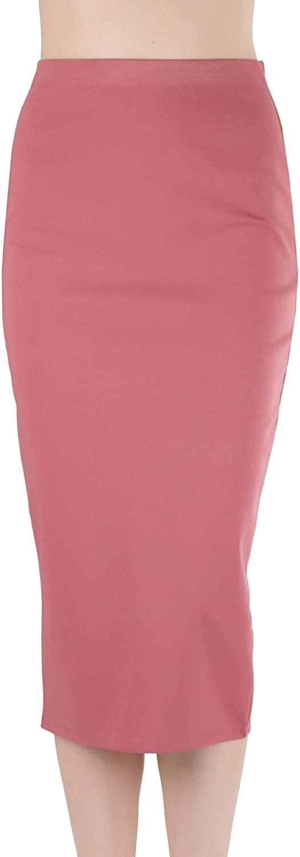 ToBeInStyle Women's Ponte Pencil Calf Length Midi-Skirt