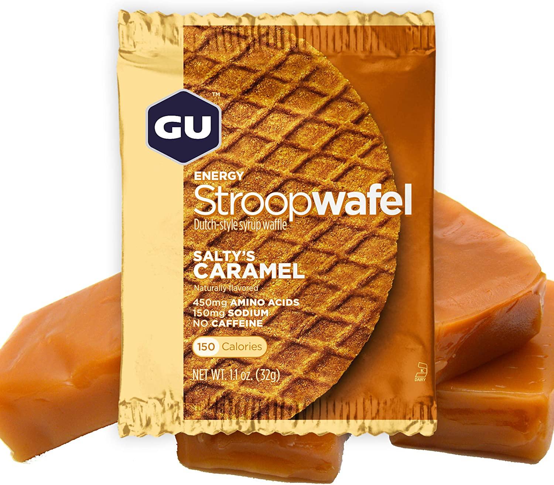 GU Energy Stroopwafel Sports Nutrition Waffle, 16-Count, Salty's Caramel