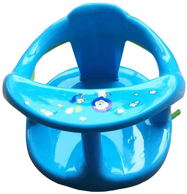 Xiaoqing Baby Plastic Bathtub Seat, Foldable Baby Bath Seat with Backrest Support and Suction Cups, Baby Bathtub Seat for Stability-Baby Bath seat