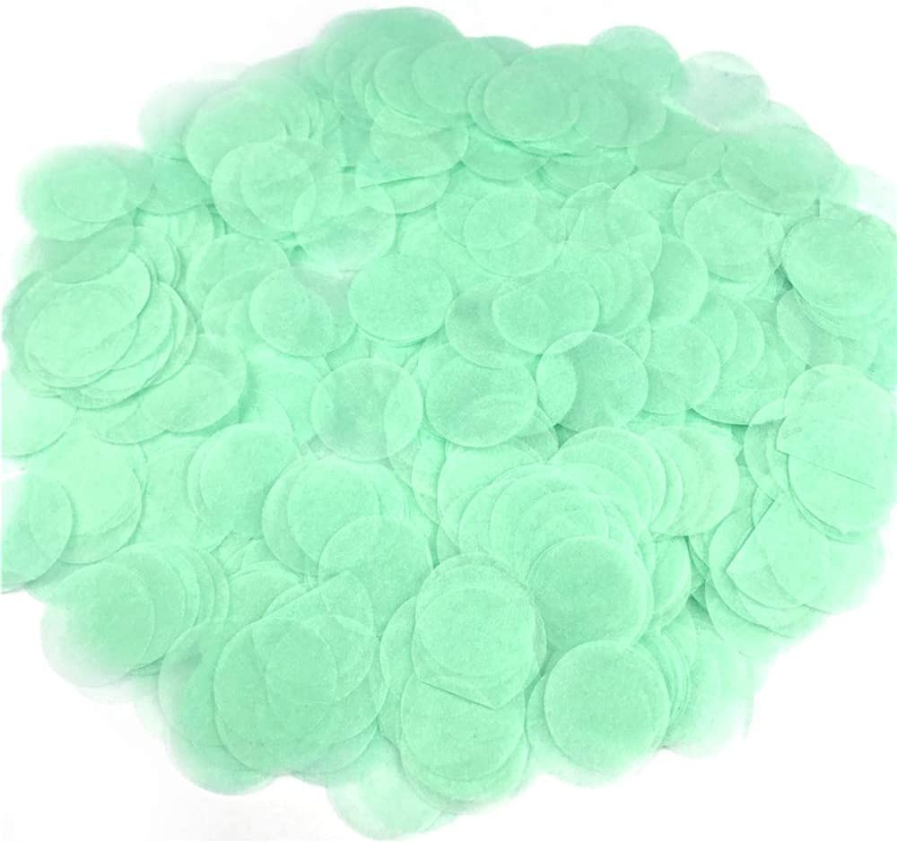 MISAZ 1000 Pieces Colorful Tissue Paper Confetti, Party Table Confetti Circles Dots Pinata Fillers for Graduation Wedding Centerpieces Baby Shower Birthday Favors Decorations, Mint Green