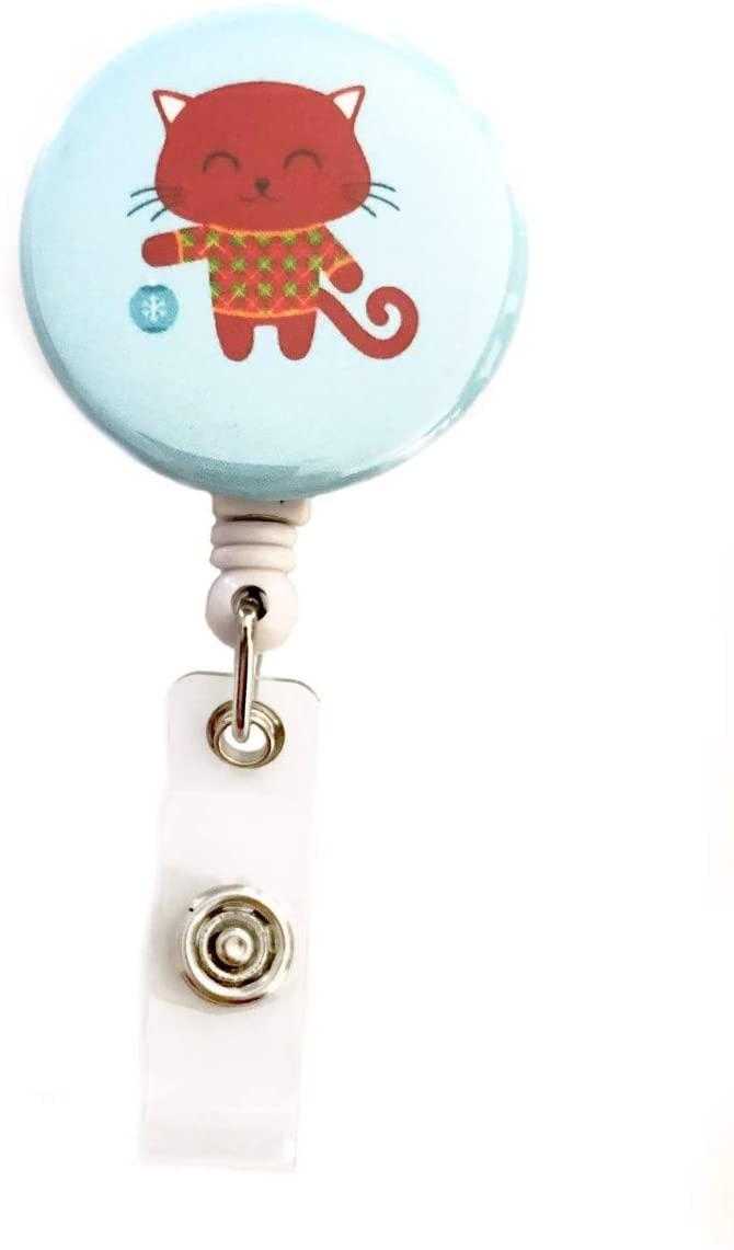 Christmas Cats Retractable Badge Reel ID Badge Holder (Tree Decorator)