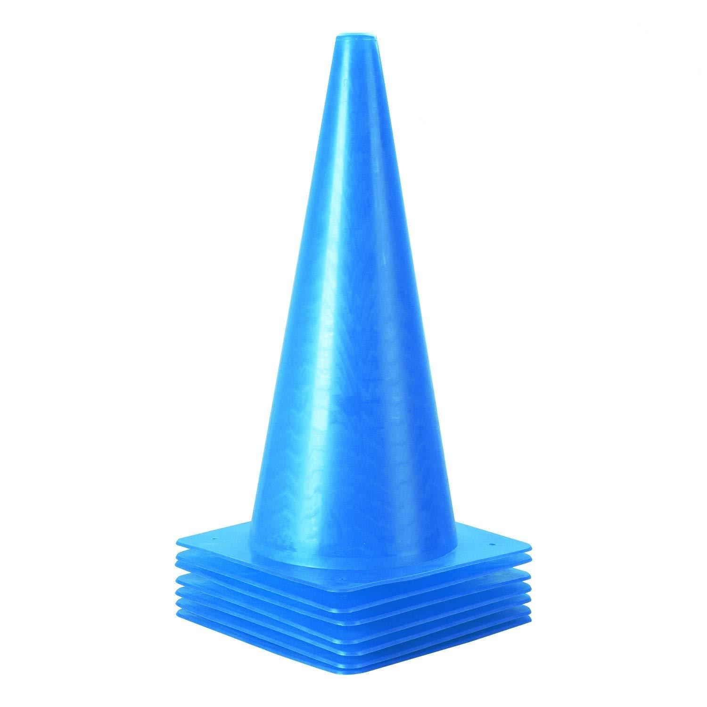 15 inch Traffic Cones, Plastic Training Cones, 7 Pack of Sport Cones for Indoor/Outdoor Activity & Festive Events (Blue)