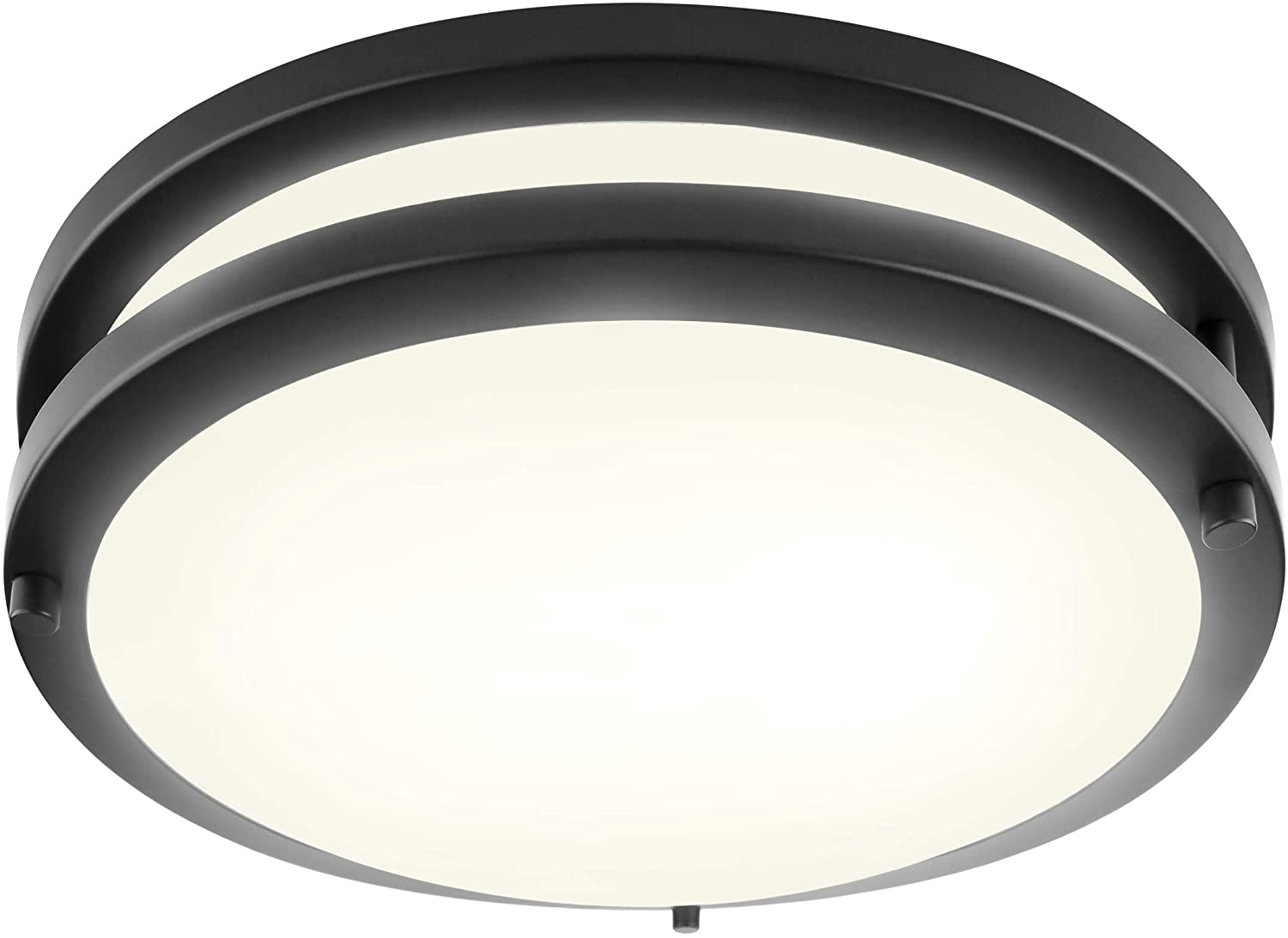 LB72172 LED Flush Mount Ceiling Light, 10-Inch Modern, Dimmable, Round Light Fixture, Oil Rubbed Bronze Finish, 4000K Cool White, 17W, 1350 Lumens, ETL & DLC Listed, Energy Star, Indoors, Hallway, Kid