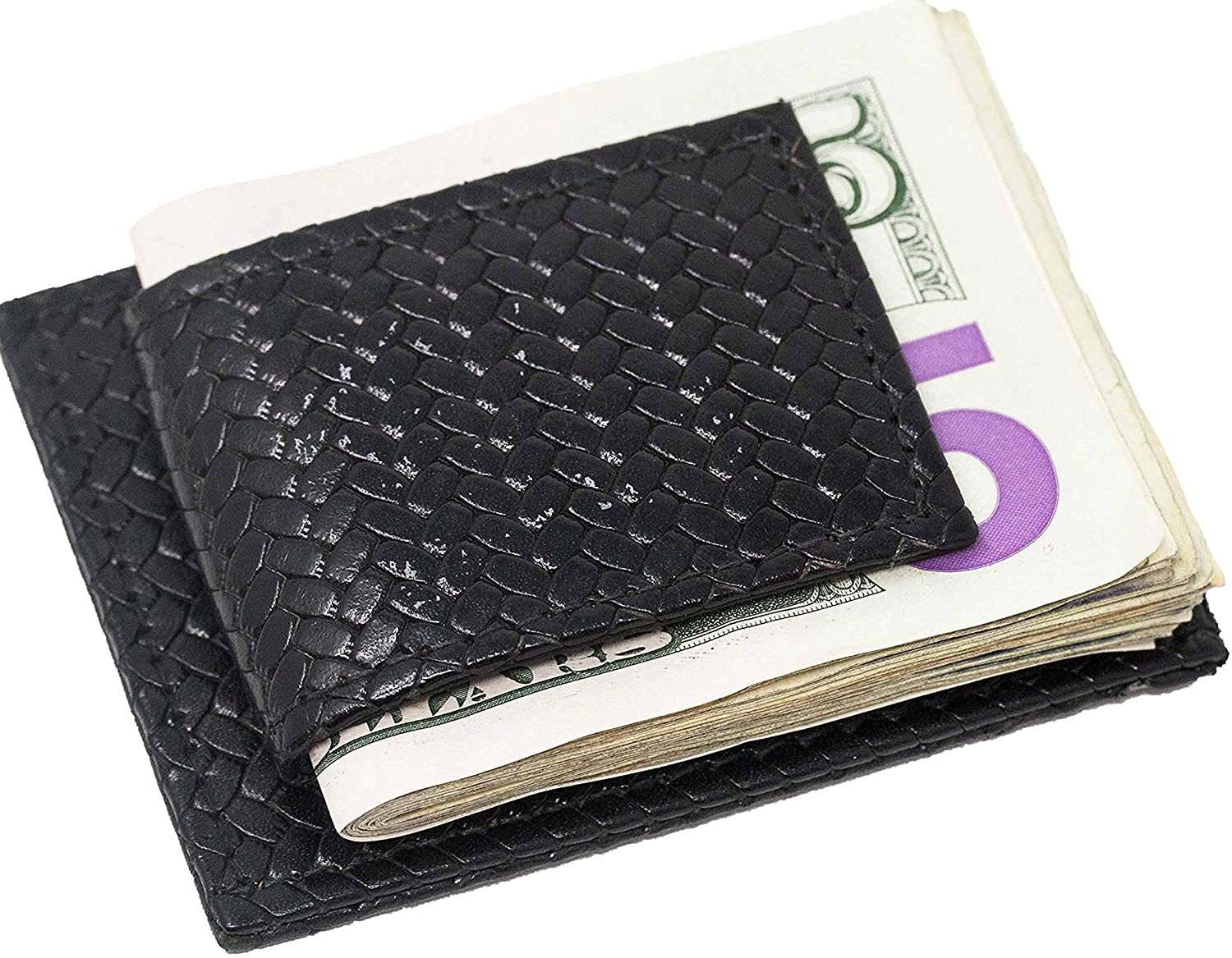 Genuine Cowhide Leather Magnetic Dual Money Clip and Wallet