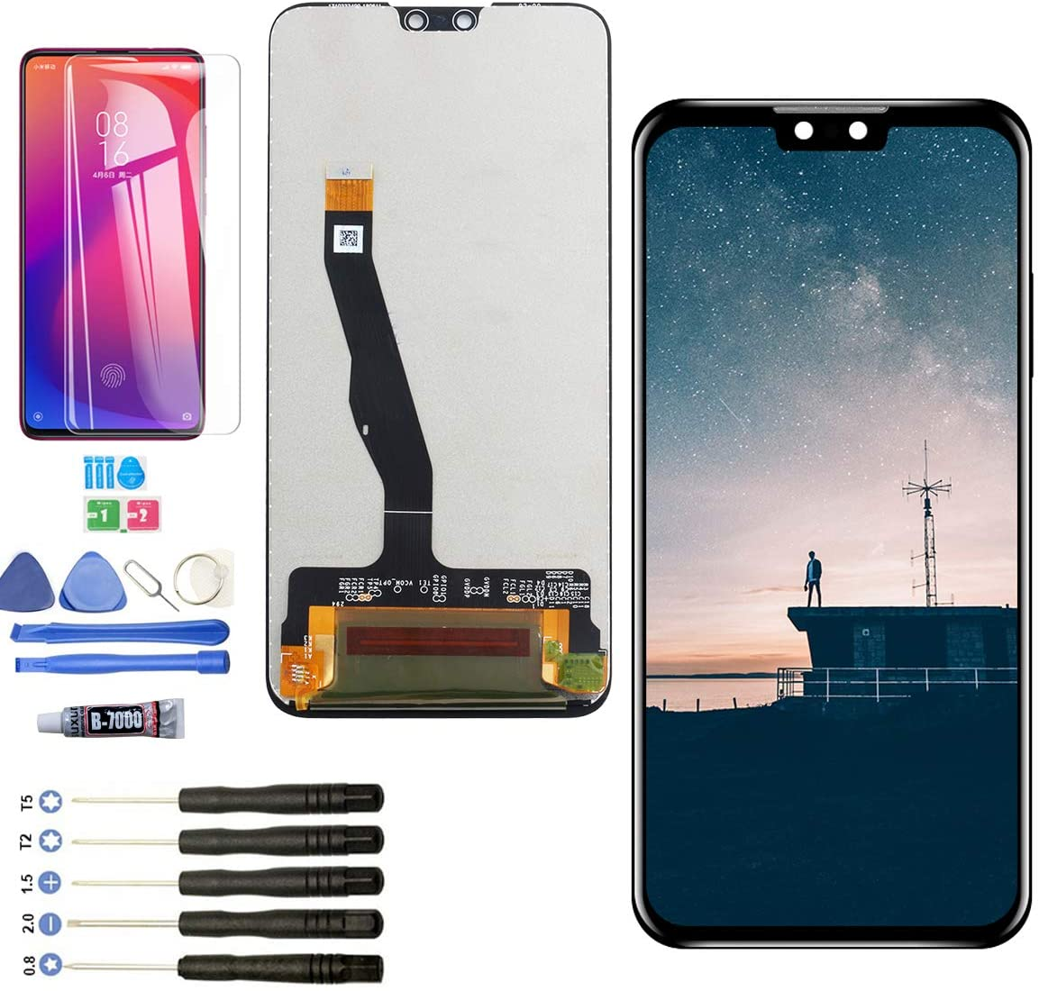 YWL-US LCD for Huawei Y9 2019 Replacement for Huawei Enjoy 9 Plus JKM-TL00 JKM-AL00 JKM-LX1 JKM-LX2 JKM-LX3 LCD Display Touch Screen Digitizer(Black)