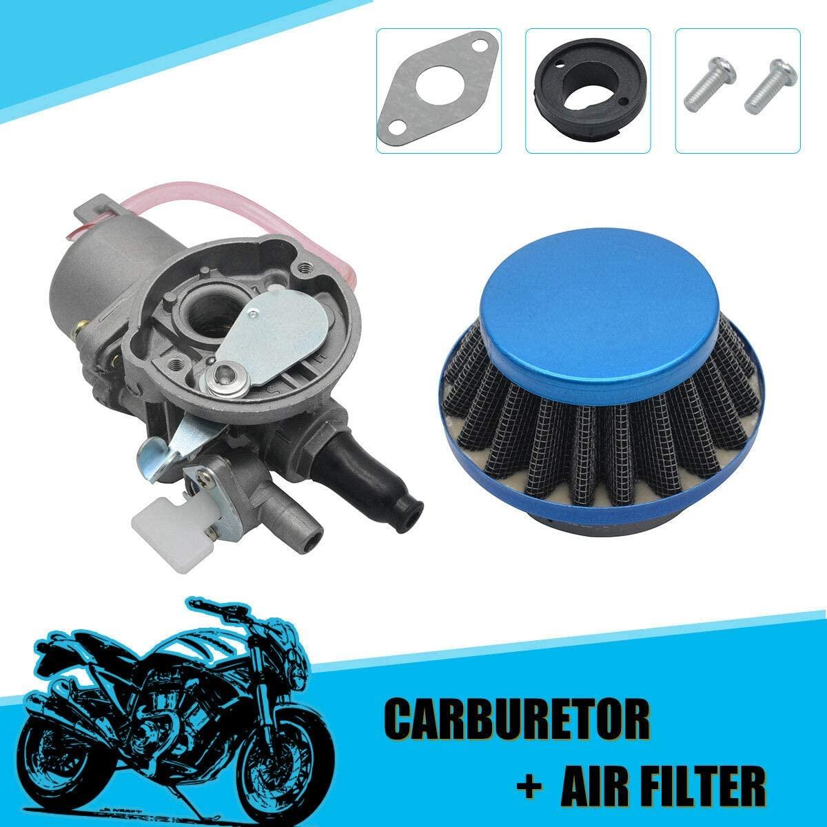 MASO Carburetor Carb + Air Filter 47cc 49cc Mini Motor ATV Quad Dirt Pocket Bike (Bule)