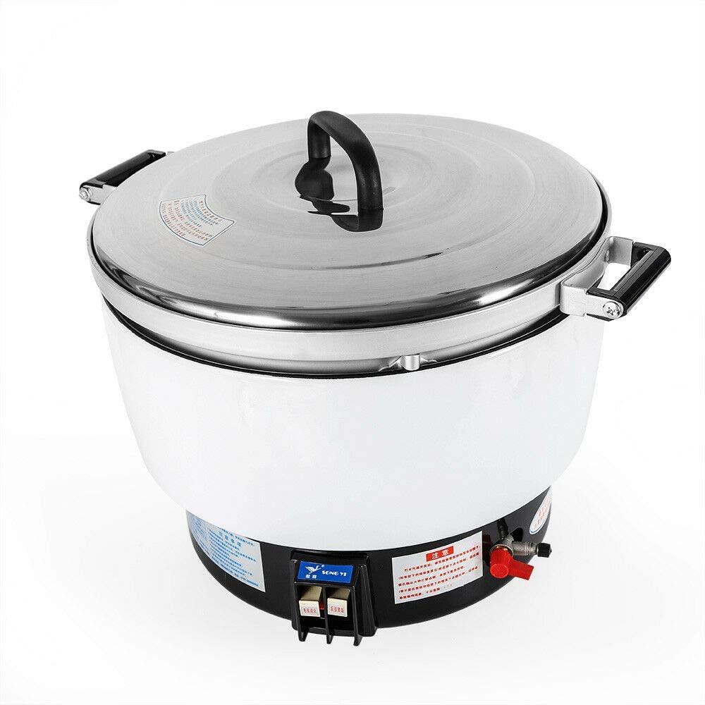Ethedeal Rice Cooker - 10L Capacity Natural Gas Rice Cooker Pot Commercial Rice Cooker Flame Steamer Soup Pot For Restaurant Large (10L)