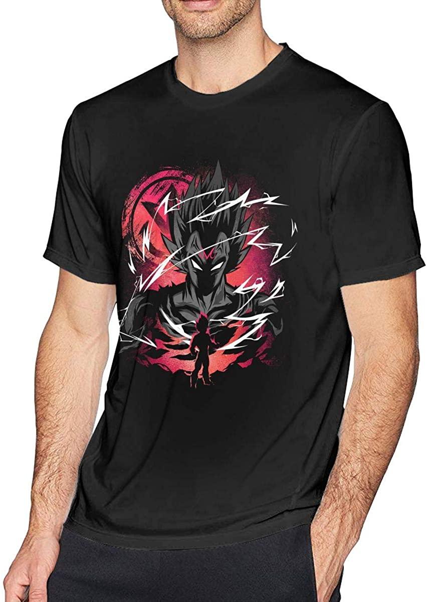 Majin Saiyan Prince Vegeta Z Men's Short Sleeve T Shirts (Black)