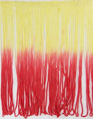 Ombre Tie-Dye Multicolor Chainette Thread Yarn Tonal Loop Fringe- Sewing Quilting Renaissance Dance Hawaiian Costumes Outfit Drapery- 12