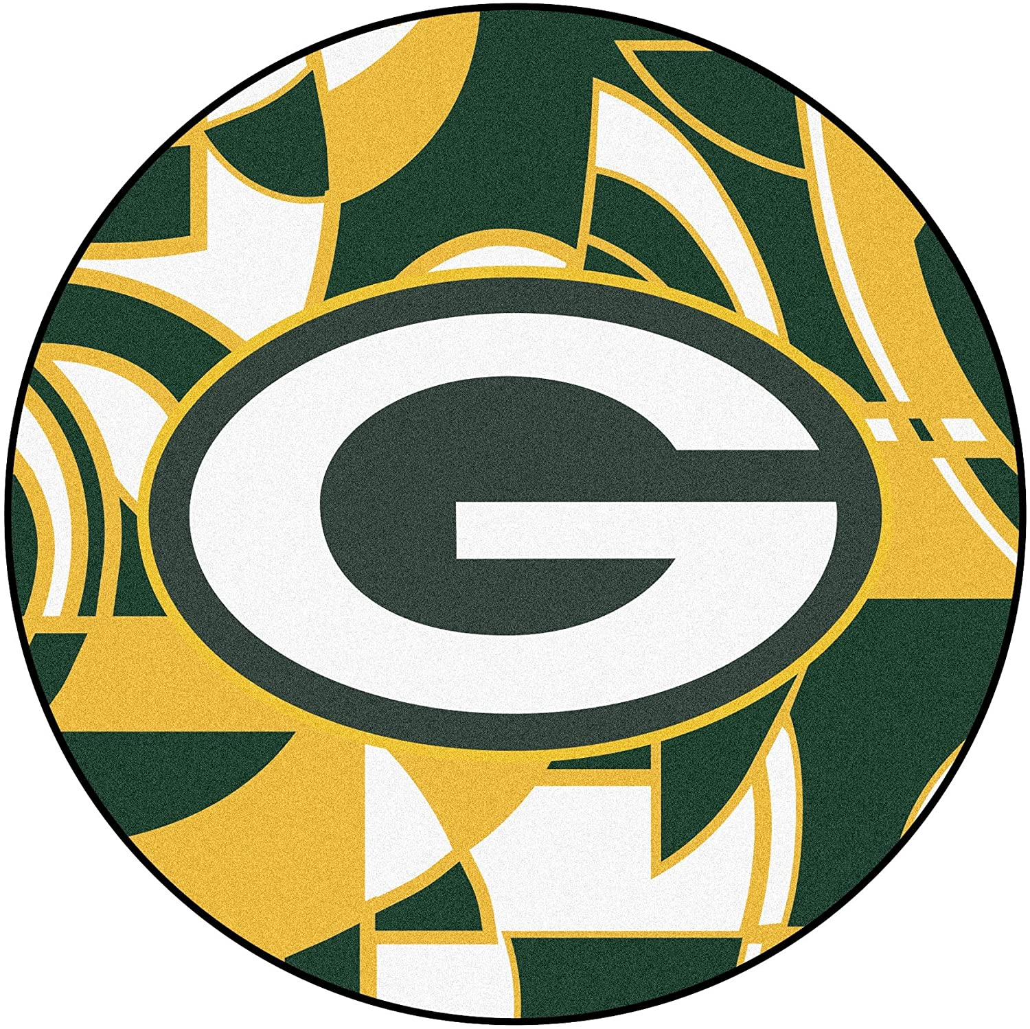 NFL Green Bay Packers Rounded Non-Skid Mat Area Rug