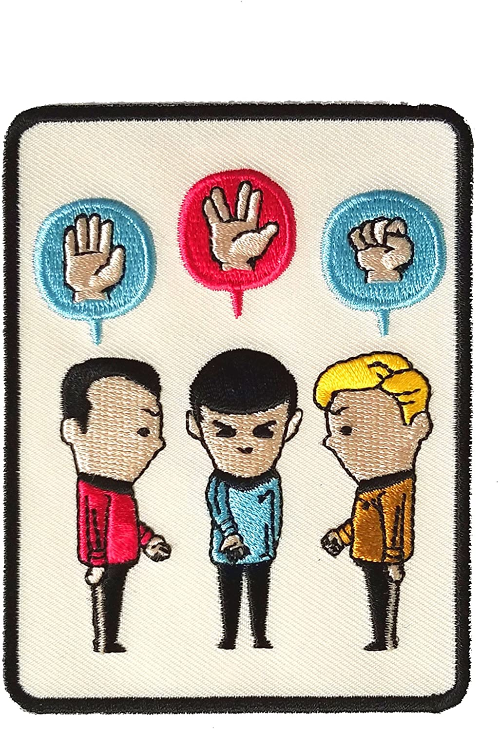 'Paper, Scissors, Rock' Funny Space Show Parody - Iron on Embroidered Patch Applique