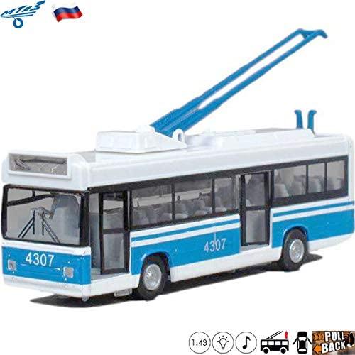 1:43 Scale Diecast Metal Model Trolley Bus MTRZ 5279 Russian Die-cast Toy Cars