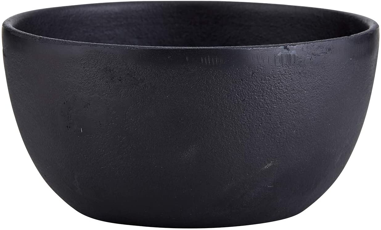 Creative Brands 47th & Main Rustic Round Bowl, Large, Cast Iron Black