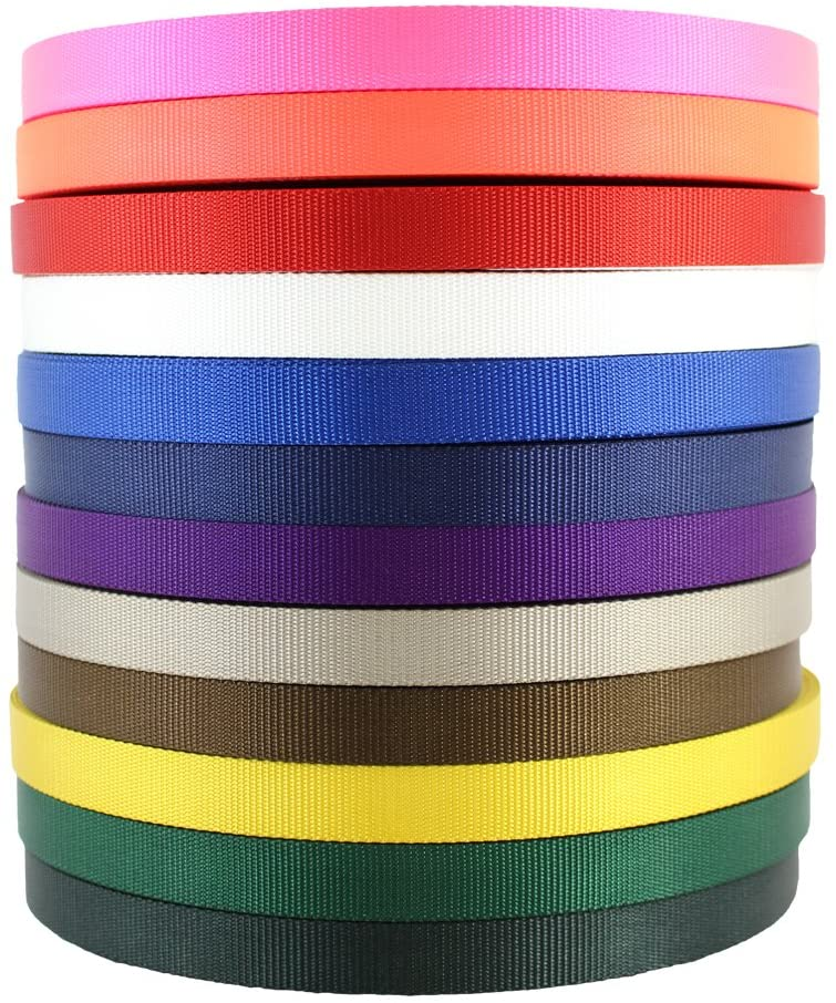 SGT KNOTS Nylon Webbing - All-Purpose, Heavy Duty Flat Rope for Crafting, Marine and More (1