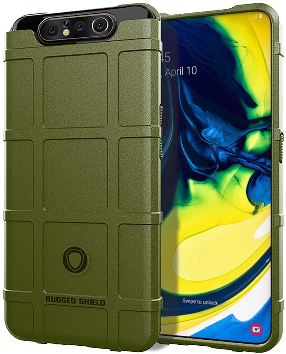 ZYZXJSGHD Samsung Galaxy A80/A90 Case,Military Grade Drop Tested Protective Phone Case Hybrid Heavy Duty Impact Resistant Cover for Samsung Galaxy A90 -Green