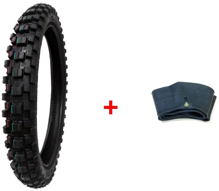 MMG Combo Dirt Bike Tire Size 70/100-17 and Inner Tube Size 70/100-17 TR4 Valve Stem