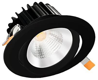 Infinity Green LightingGAD03 3 Round Adjustable LED Gimbal 9 Watts (Black 5000K)