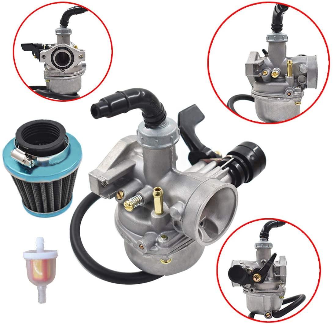 WFLNHB 19mm 50cc 70cc 90cc 110cc ATV Dirt Bike Go Kart Carburetor W/Air Filter Gasket