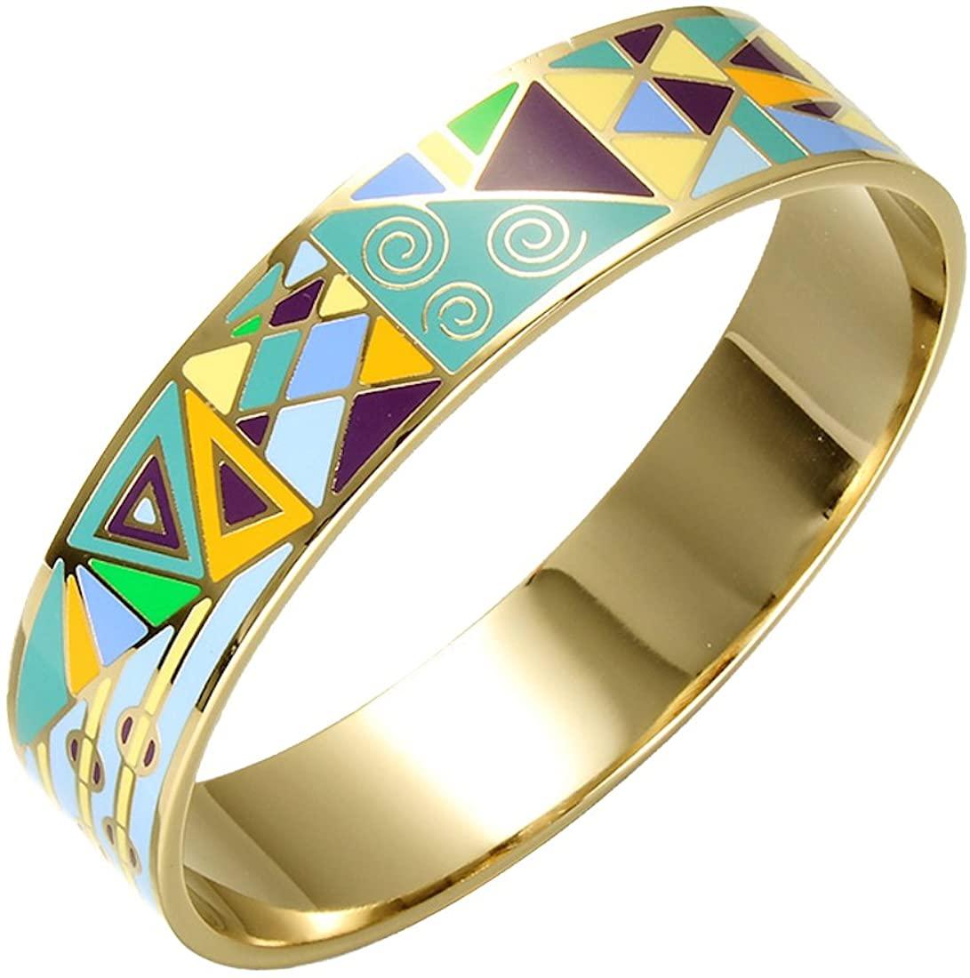 Homvare Women's Gold Plated Enamel Bracelet