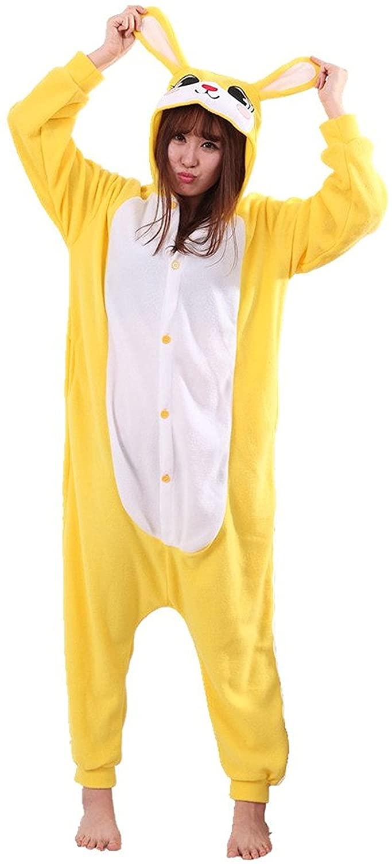 Honeystore Unisex Warm Sleepwear Adult Cosplay Rabbit Pajamas Costume Homewear