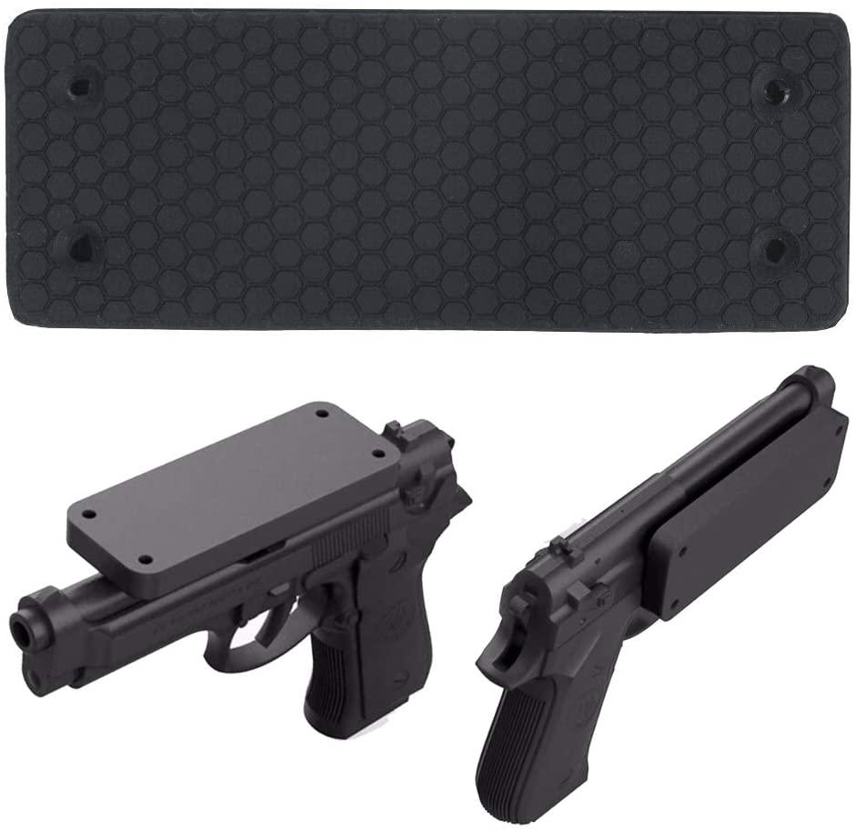 SDM Strongest 43Lbs Pull Force Magnetic Gun Mount Rubber Coating Gun Magnet for Handgun, Shotgun, Rifles, Revolvers| Beside Holster, Using in Cars, Trucks, Wall, Desk